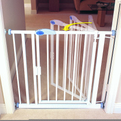 Auto-Close Gate 75-82 cm blanc