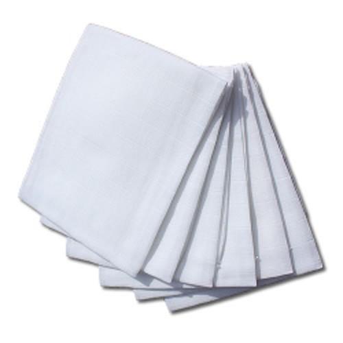 Langes gaze blanc 60x60cm, 6pces