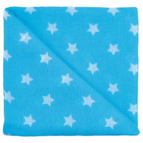 Gaze étoiles turquoise