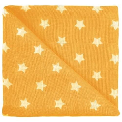 Gaze étoiles jaune