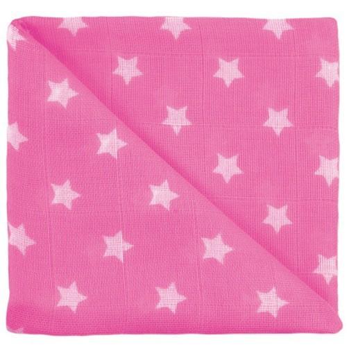 Gaze étoiles pink
