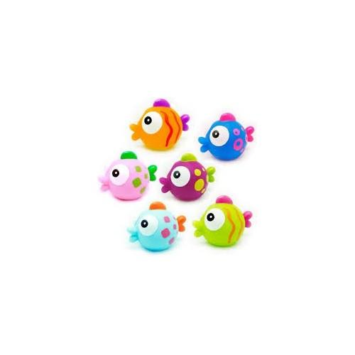 Jouet de bain poissons 6pces