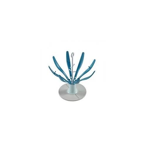 Flower égoutte-biberon bleu