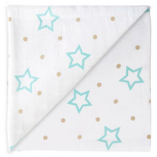 Gaze maxi étoiles blanches