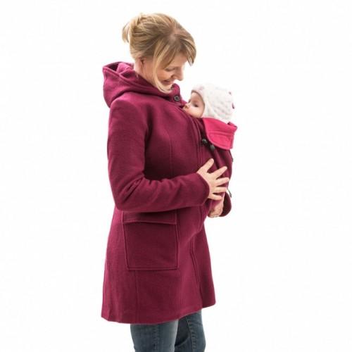 Manteau de portage rose
