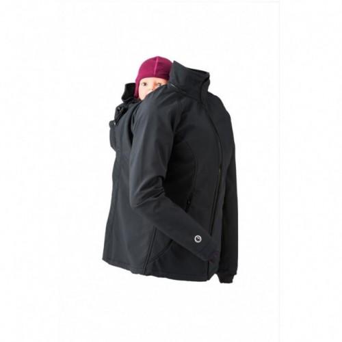 Veste de portage softshell noire
