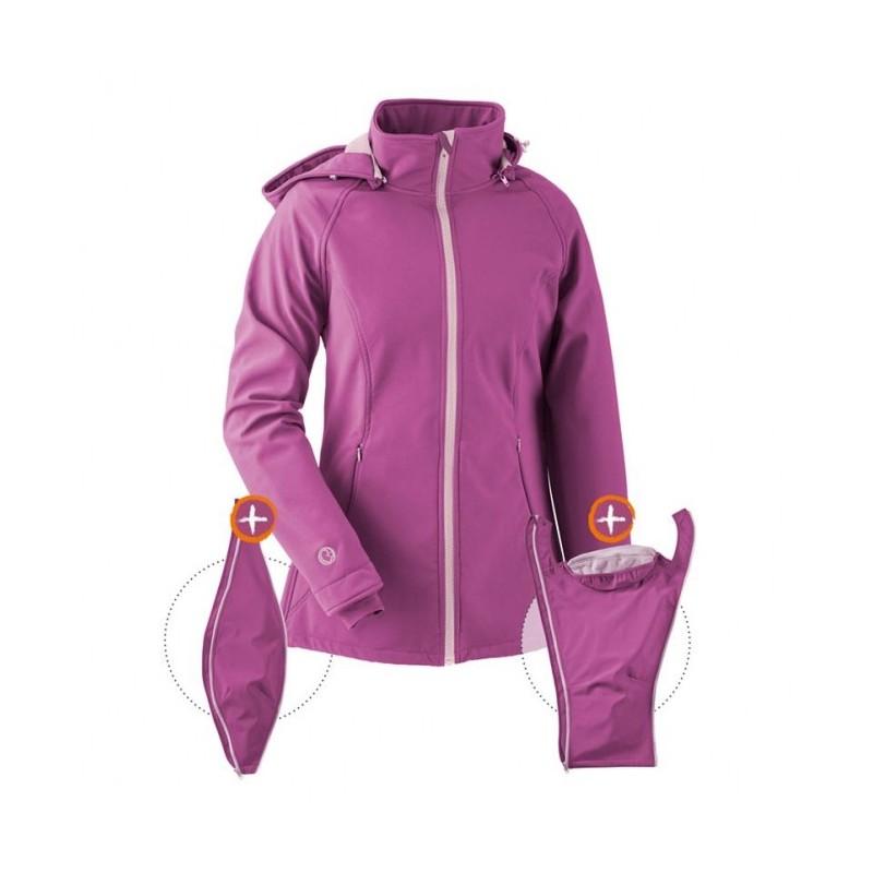 Veste de portage softshell violet