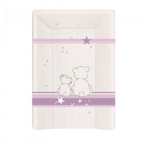 Matelas à langer avec rebords ours lilas
