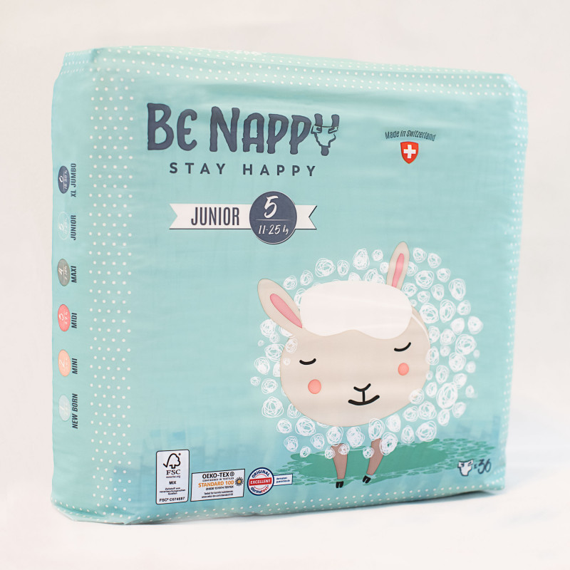 Couches Be Nappy - Junior taille 5 (11-25kg)
